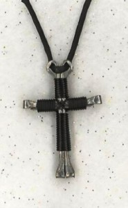 Black Disciple's Cross Necklace
