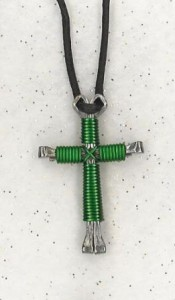 Green Disciple's Cross Necklace