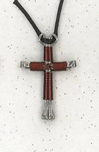 Maroon Disciple's Cross Necklace