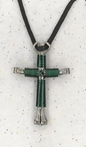 Teal Disciple's Cross Necklace